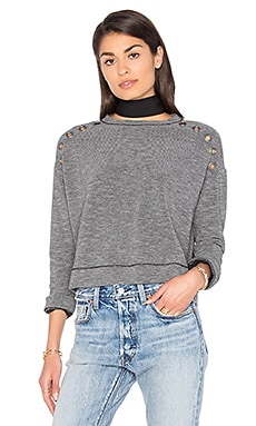 Grommets Pullover in Charcoal & Black