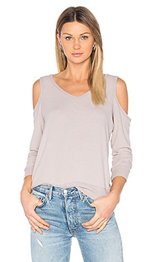 Cold Shoulder Sweatshirt in Chai