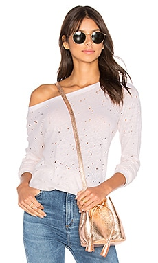 Textured Sweatshirt in Barely Pink