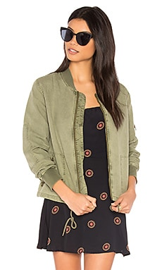 Cinched Bomber in Olive