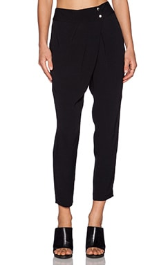 Michael Stars Pleat Front Pant in Black