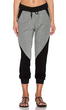 Michael Stars Drawstring Pant in Black