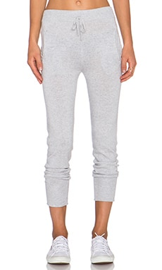Michael Stars Drawstring Pant in Heather Grey