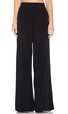 Michael Stars High Waisted Wide Leg Pant in Nocturnal