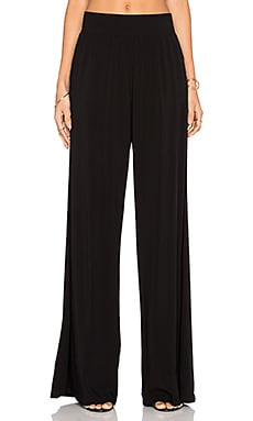 Michael Stars High Waisted Wide Leg Pant in Black