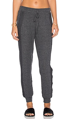 Michael Stars Drawstring Pull On Pant in Charcoal
