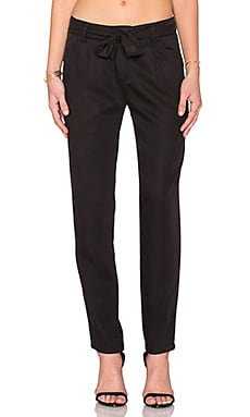 Michael Stars Straight Leg Pant in Black