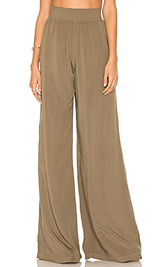 Wide Leg Pant in Olive Moss