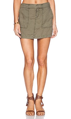 Michael Stars Elastic Waist Mini Skirt in Cargo