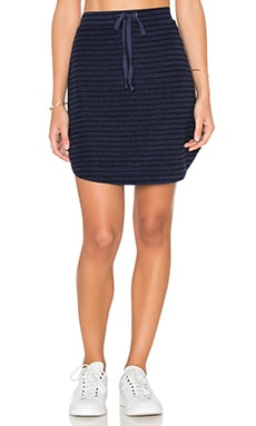 Michael Stars Playa Stripe Drawstring Mini Skirt in Nocturnal