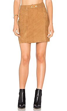 A Line Mini Skirt in Cognac
