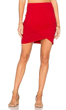Cross Front Mini Skirt in Blaze