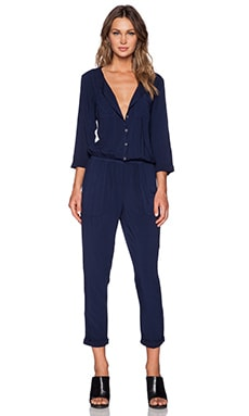 Michael Stars 3/4 Sleeve Jumpsuit in Passport
