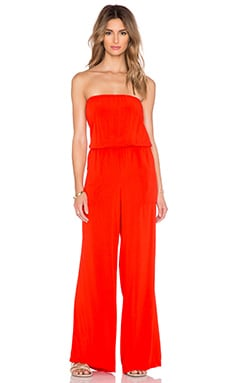 Michael Stars Strapless Wide Leg Jumpsuit in Samba