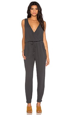 Surplice Tank Jumpsuit in Oxide