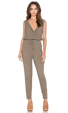 Sleeveless Tank Jumpsuit in Olive Moss