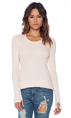 Michael Stars Thermal Scoop Neck in Sweetpea
