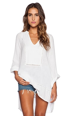 Michael Stars Rolled Sleeve Tunic in White