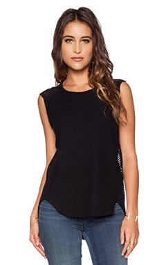 Michael Stars Sleeveless Hi-Low Tank in Black