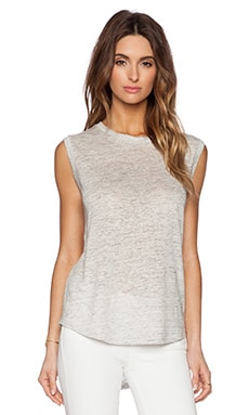 Michael Stars Hi-Low Muscle Tank in Heather Grey