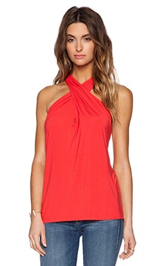 Twist Front Halter in Tomato