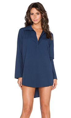 Michael Stars Shirttail Hem Tunic in Passport
