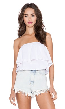 Blouson Tube Top in Rosewater