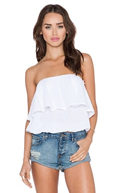 Michael Stars Blouson Tube Top in White