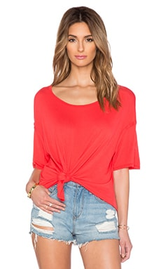 Michael Stars Boatneck Side Tie Tee in Samba