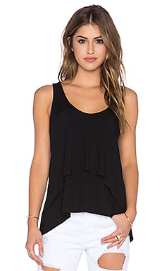 Michael Stars Sleeveless Layered Tank in Black