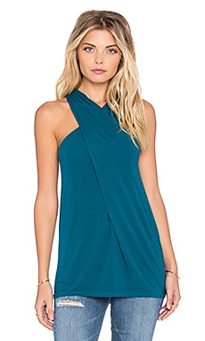 Michael Stars Twist Front Halter Tank in Hypnotic