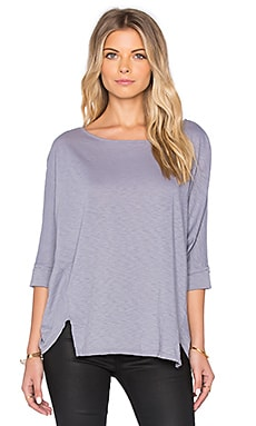 Michael Stars Wide Neck Dolman Top in Cinder