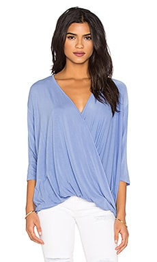 Michael Stars Draped Front Top in Cove