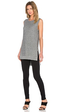 Michael Stars Tank Tunic in Charcoal