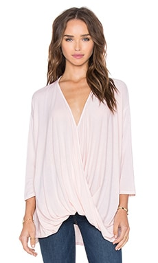 Michael Stars Draped Front Top in Bloom