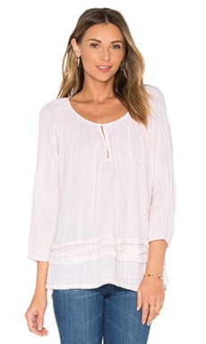Michael Stars Double Gauze Keyhole Top in Bloom