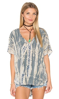 Naomi Wash Peasant Top in Oyster