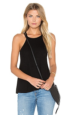 2x1 Rib Flow Halter Tank in Black