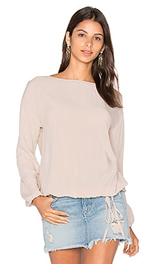 Michael Stars Long Sleeve Blouse in Chai