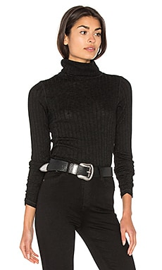 Long Sleeve Turtleneck Top in Black