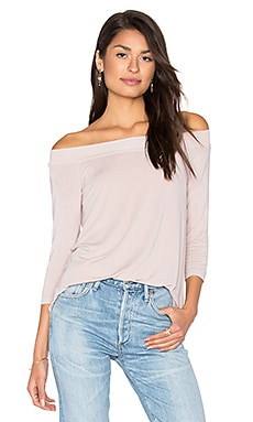 Off Shoulder Tee in Chai