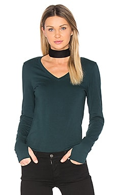 Thumbhole V Neck in Everglades