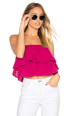 Blouson Tube Top in French Rose