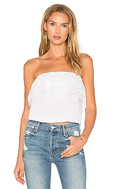 Blouson Lace Top en Blanc