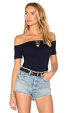 Off Shoulder Tee in Nocturnal