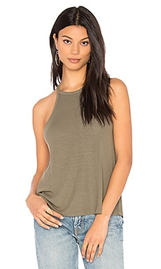 Halter Tank in Olive Moss