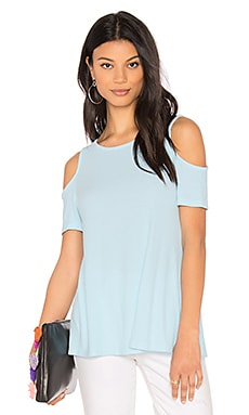 Cold Shoulder Tee in Clear Water