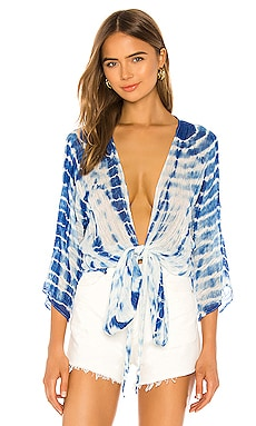 Daisy Wrap Top Cover Up Michael Stars $78