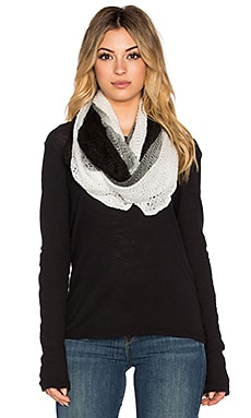 Michael Stars Ombre Eternity Scarf in Black