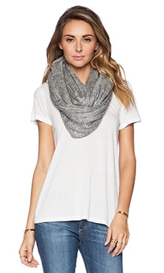Michael Stars Sequin and Shine Eternity Scarf in Smoke